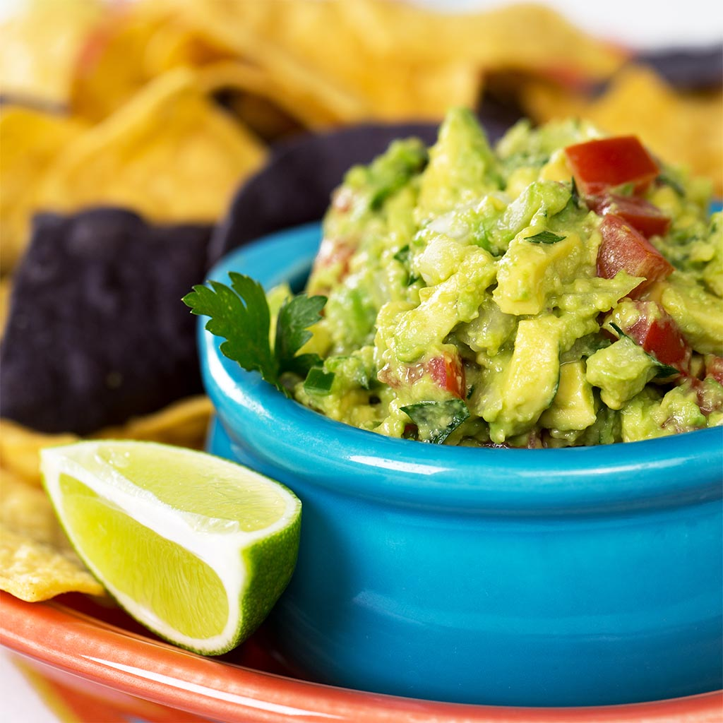 Lightened-Up Guacamole and Chips